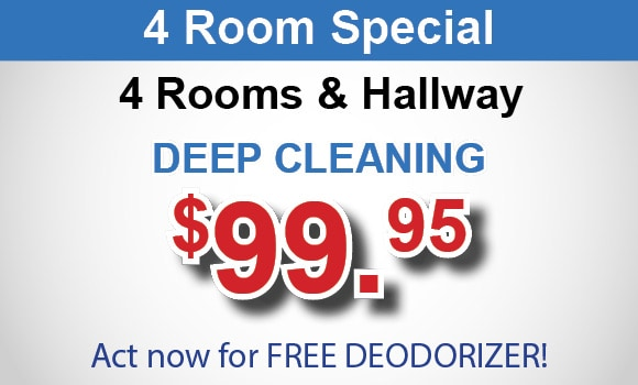 4 room carpet cleaning special